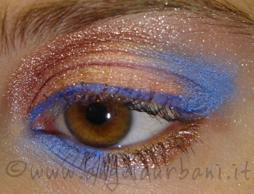 copper skies tutorial trucco occhi makeup by ANgyMakeUp rame e azzurro