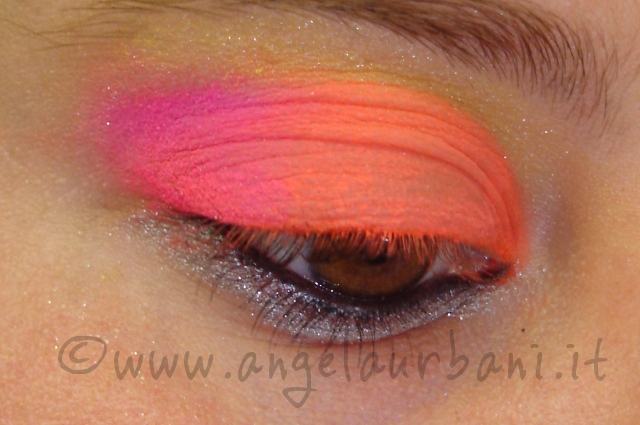 Tutorial trucco Tropical Flamingo step 4