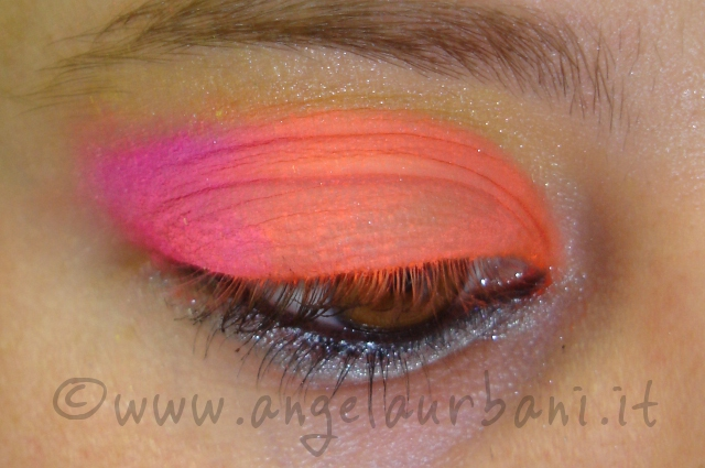 tutorial trucco neon Tropical Flamingo
