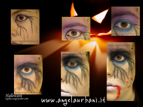 Tutorial trucco Dark Side Halloween 2010